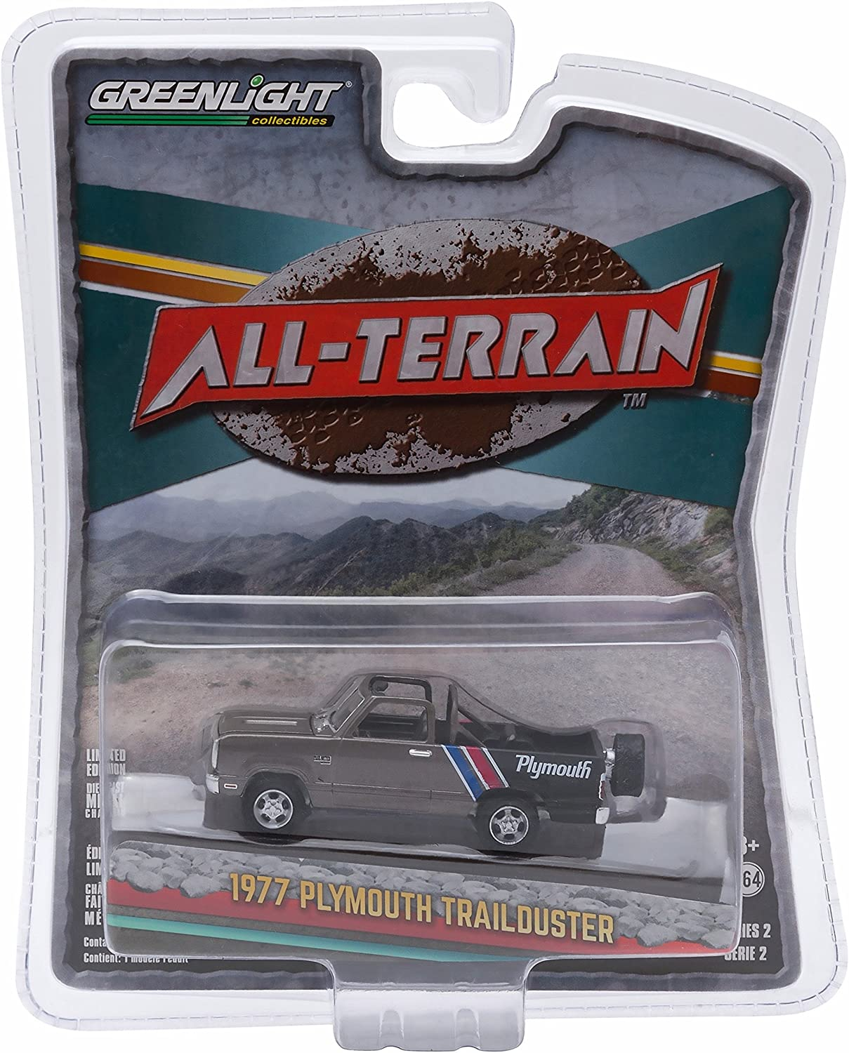 1977 PLYMOUTH TRAILDUSTER  AllTerrain Series 2  2015 Greenlight Collectibles 1 64 Scale Limited Edition DieCast Vehicle