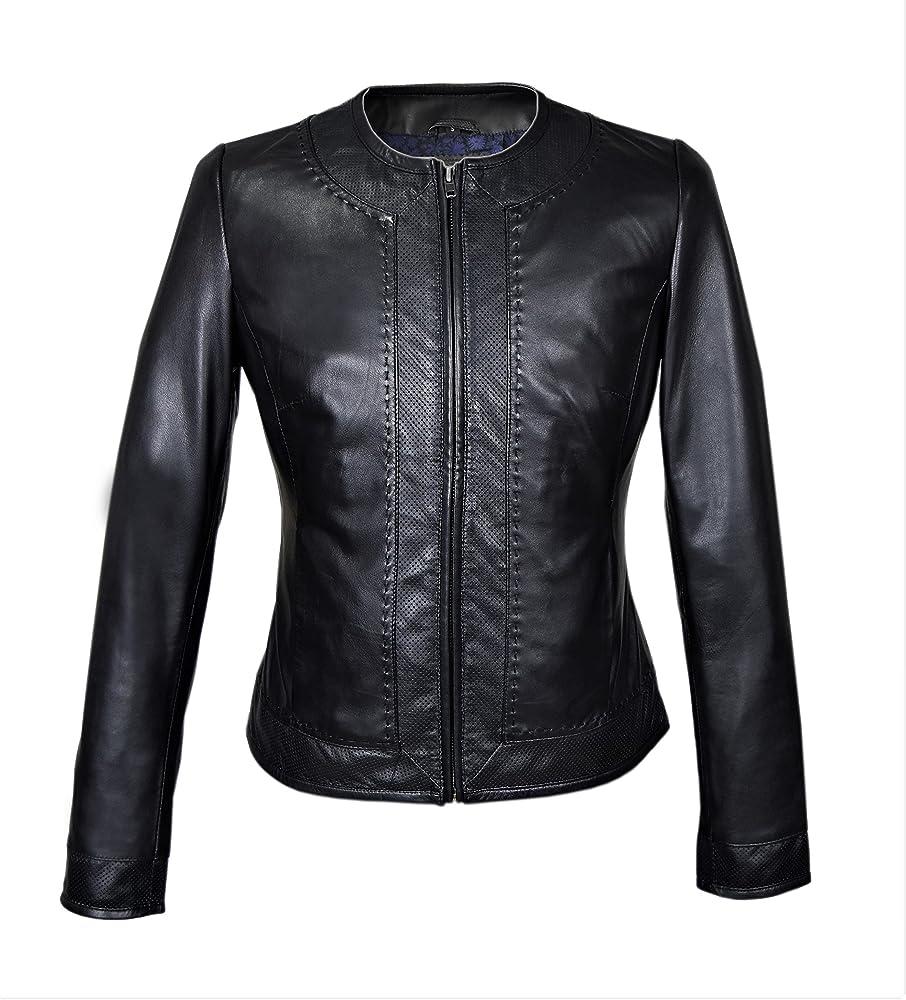 Zerimar,giubotto elegante, in pelle per donna 10010507fba_negro-XXL