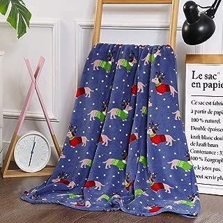 "Plush Christmas Dog Lover Fleece Throw Blanket 50"" x 60"""