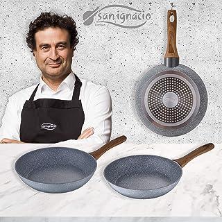 San Ignacio Daimiel - Set 3 Sartenes, Inducción, Aluminio Forjado, 22/26/28 cm