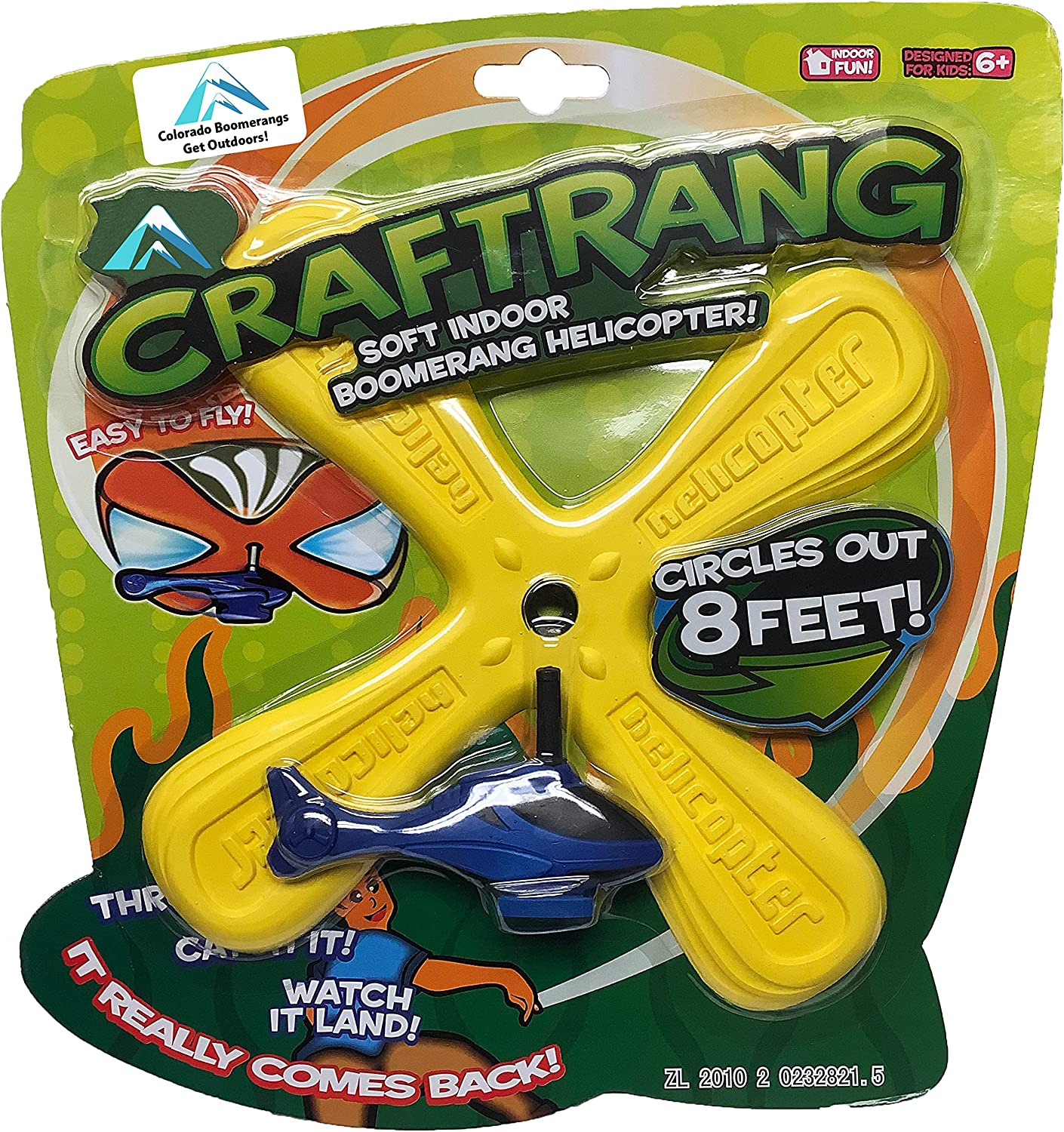 Craftrang Helicopter Boomerang - a Helicopter That Boomerangs