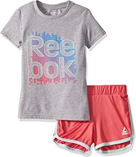 Girls Sleeve Athletic T-Shirt and Pull-on Short Set