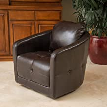 Christopher Knight Home Concordia Swivel Chair, Brown