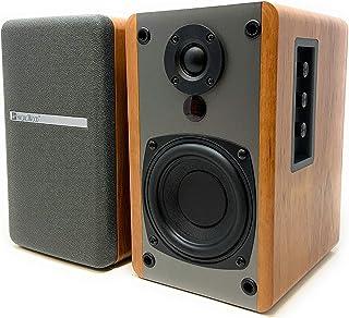 SINGING WOOD BT25 Active Bluetooth Bookshelf Speakers with Built-in Amplifier - Studio Monitor Speaker -2 AUX Input - Full...