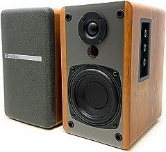 SINGING WOOD BT25 Active Bluetooth Bookshelf Speakers- Studio Monitor Speaker -2 AUX Input - Full Function Remote Control - Wooden Enclosure - 50 Watts RMS (Beech Wood)