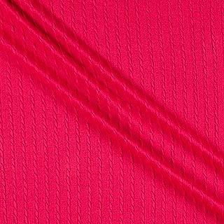Telio Milo Novelty Stretch Cable Knit Fuschia Fabric