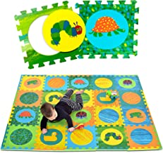 Eric Carle Interlocking Baby Play Mat, Very Hungry Caterpillar Foam Floor Tiles for Infants and Children, 52