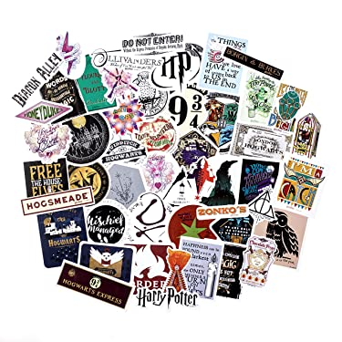 Conquest Journals Harry Potter Wizarding World Vinyl Stickers, Set of 50, Indoor and Outdoor Use, Waterproof and UV Resistant, Great for All Your Gadgets, Potterfy All The Things