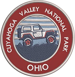 Roadtrip! Cuyahoga Valley National Park Embroidered DIY Iron on or Sew-on Decorative Patch Badge Emblem Appliques Vacation Souvenir Travel Explore More Wander Adventure Series