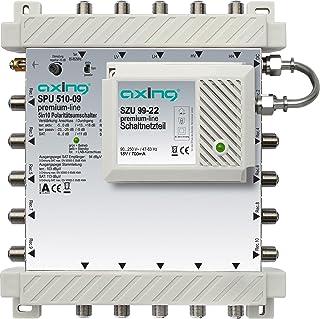 Axing SPU 510 09 SAT Multischalter 10 Teilnehmer Premium Line erweiterbar aktiv Quad tauglich energiesparend (5 x 10)
