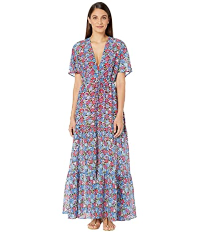 Stella McCartney Pansy Print Long Dress (Multicolor) Women