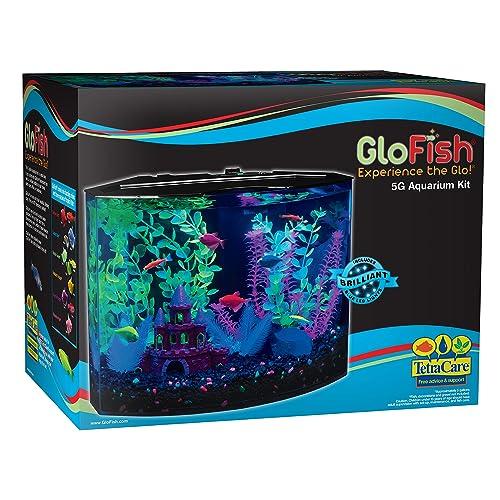 Glofish Aquarium Tank Kits with LED Lighting, Decor and Live Fish Collection