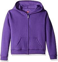 (purplethora, l) - Hanes Girls' Fleece Zip Hood Jacket