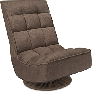 Best Choice Products Reclining Folding Floor Gaming Chair for Home, Office, Lounging, Reading w/ 360-Degree Swivel, 4 Adju...