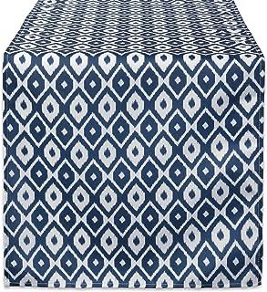 DII Blue Ikat Outdoor TABLERUNNER 14x108, Table Runner