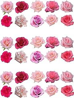 Top That Assortiment de 30roses en papier comestible pour décoration de gâteau