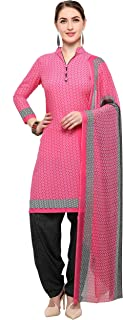 Rajnandini Pink Crepe Salwar Suit For Women (Ready To Wear)(One Size)