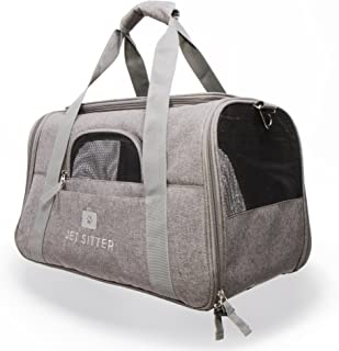 Jet Sitter Super Fly - Airline Approved Soft Sided Pet Carrier Bag for Small Dogs or Cats, Top Loading, TSA Travel