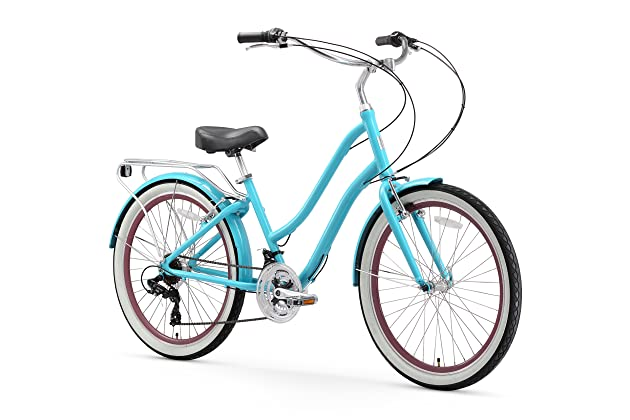 bca07938eab sixthreezero EVRYjourney Women's Step-Through Hybrid Cruiser Bicycle  (24-Inch and 26-Inch)
