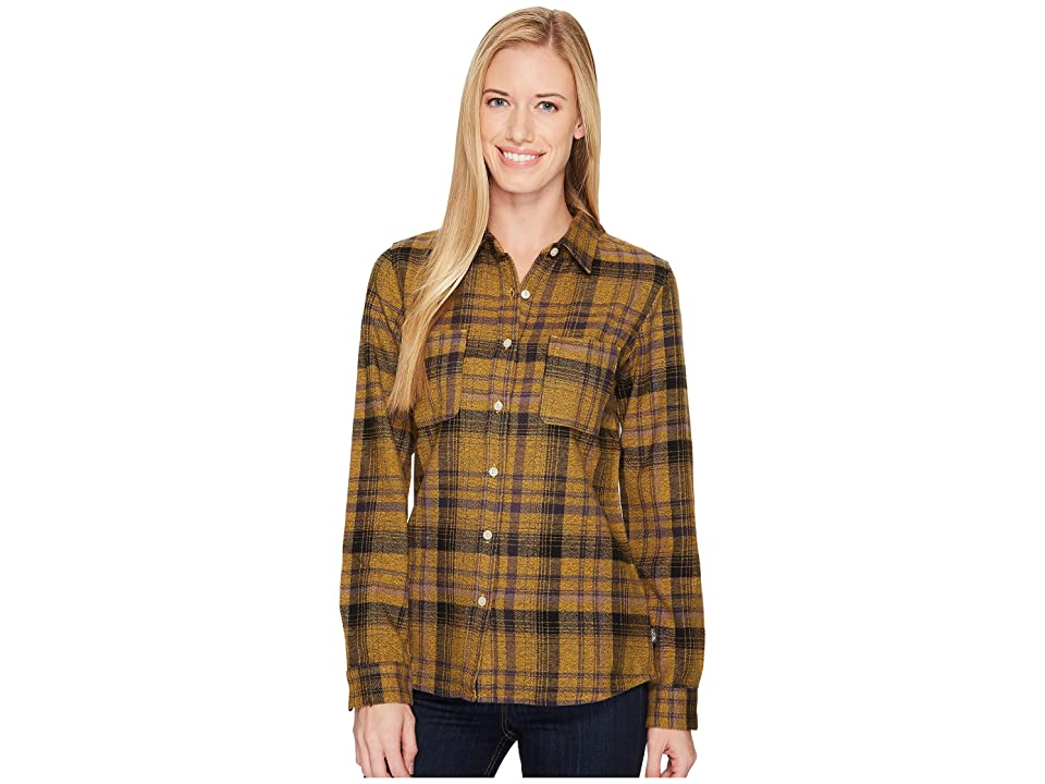 The North Face Long Sleeve Willow Creek Flannel (TNF Oatmeal Heather Plaid) Women