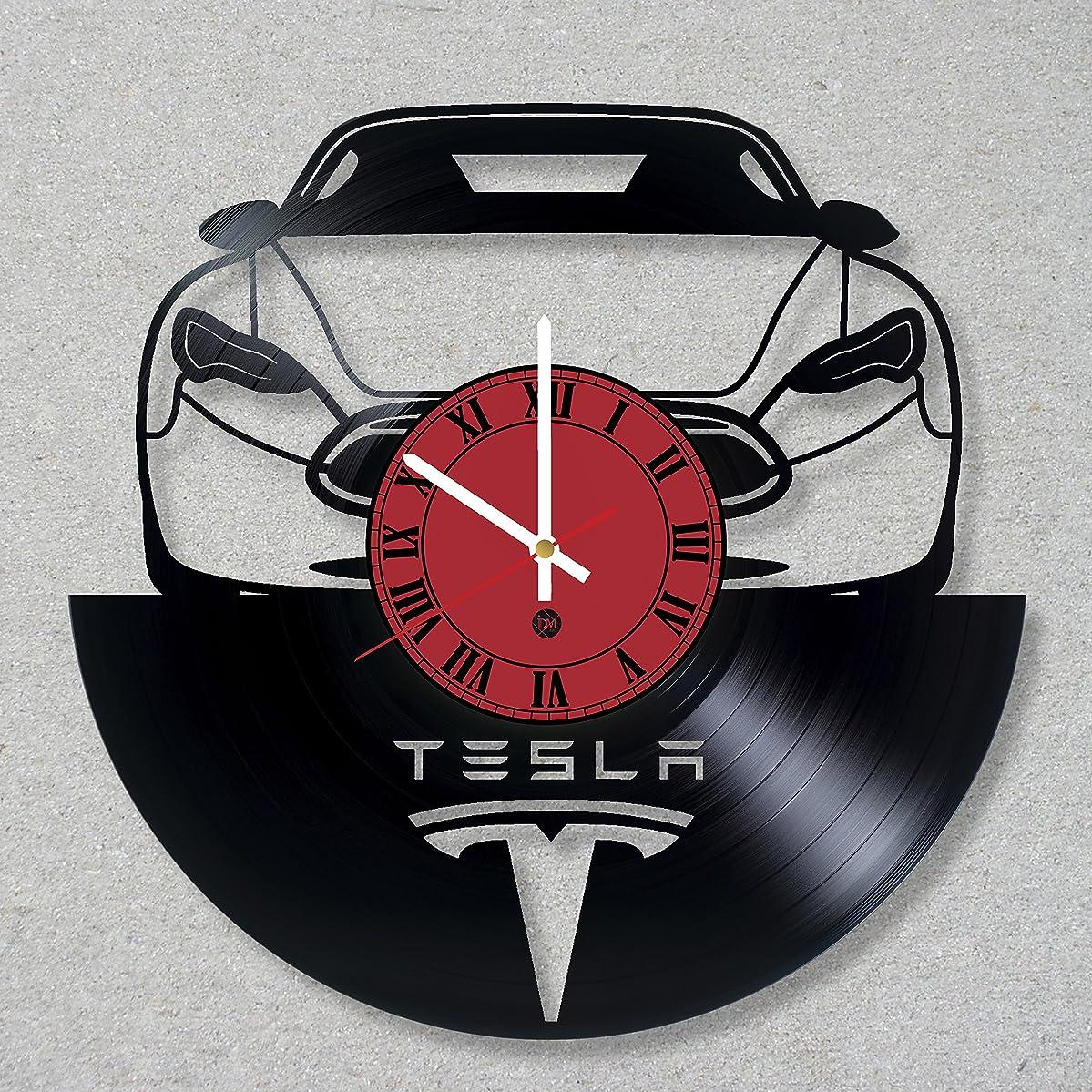Vinyl Record Wall Clock Elon Musk Tesla Neuralink SpaceX decor unique gift ideas for friends him her boys girls World Art Design