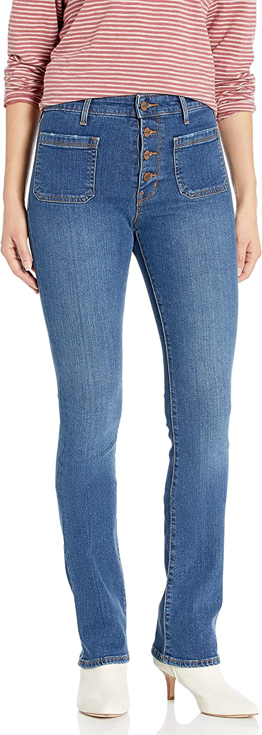Sanctuary Department store Women's High Rise Cut Same day shipping Boot Jean Demi