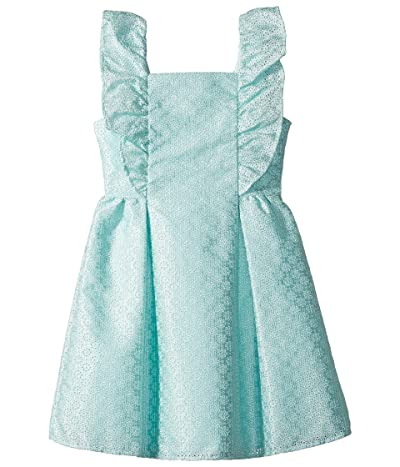 Janie and Jack Ruffle Eyelet Dress (Toddler/Little Kids/Big Kids) (Mint/Green) Girl