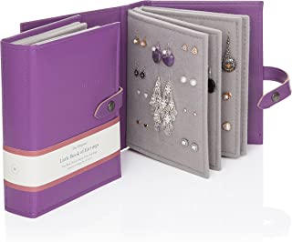 Large Size - Little Book of Earrings - A Small Book for Keeping Your Earrings Safe! (Purple)