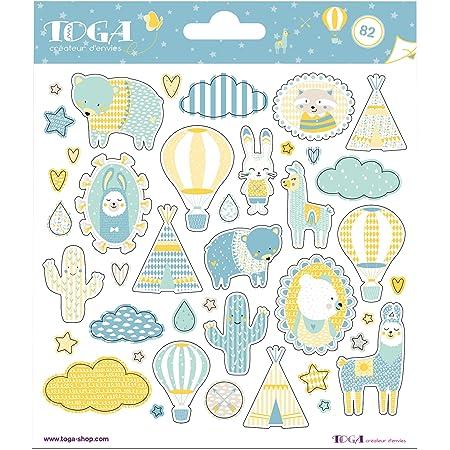 Toga naissance STF106, - Leonard & Josephine Planches de Stickers, Autre, Multicolore, 15 x 0.1 cm