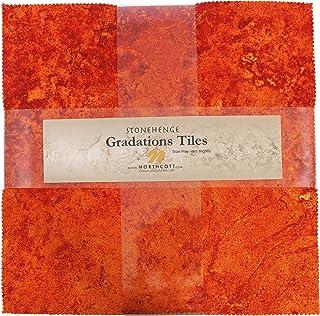 Stonehenge Gradations Brights Sunglow Stone Tiles 42 10-inch Squares Layer Cake Northcott