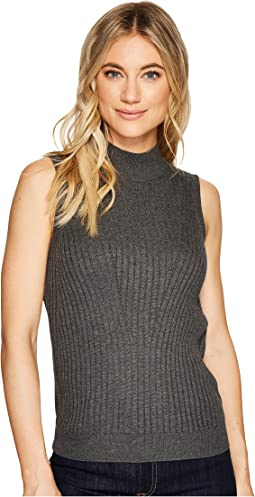 Luxe Cotton Mock Neck Shell