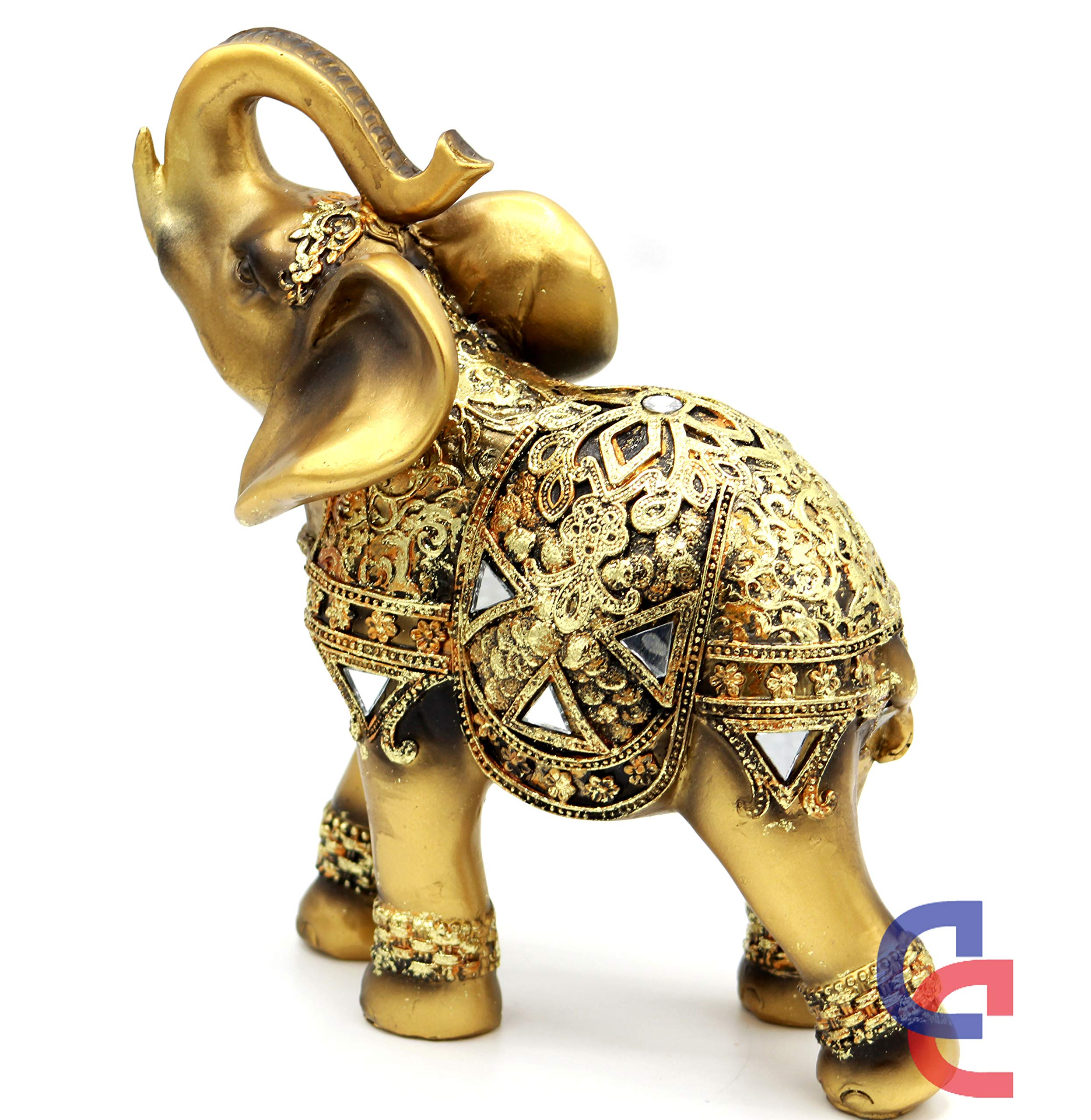 Lucky trunk up elephants Elephant statue collection