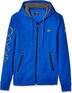 Lacoste Men's Sport Djovokic Long Sleeve Tennis Ball Graphic Fleece Hoodie
