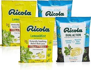 Sponsored Ad - Ricola Mint Herbal Cough Suppressant Throat Drops Variety Pack, 2 Sugar Free Lemon Mint & 2 Glacier Mint, 1...