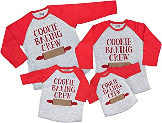 7 ate 9 Apparel Matching Family Christmas Shirts - Cookie Baking Crew Red Shirt
