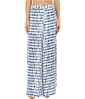 Jack by BB Dakota - Calantha Stepping Stones Printed Crepe de Chine Slit Leg Pants