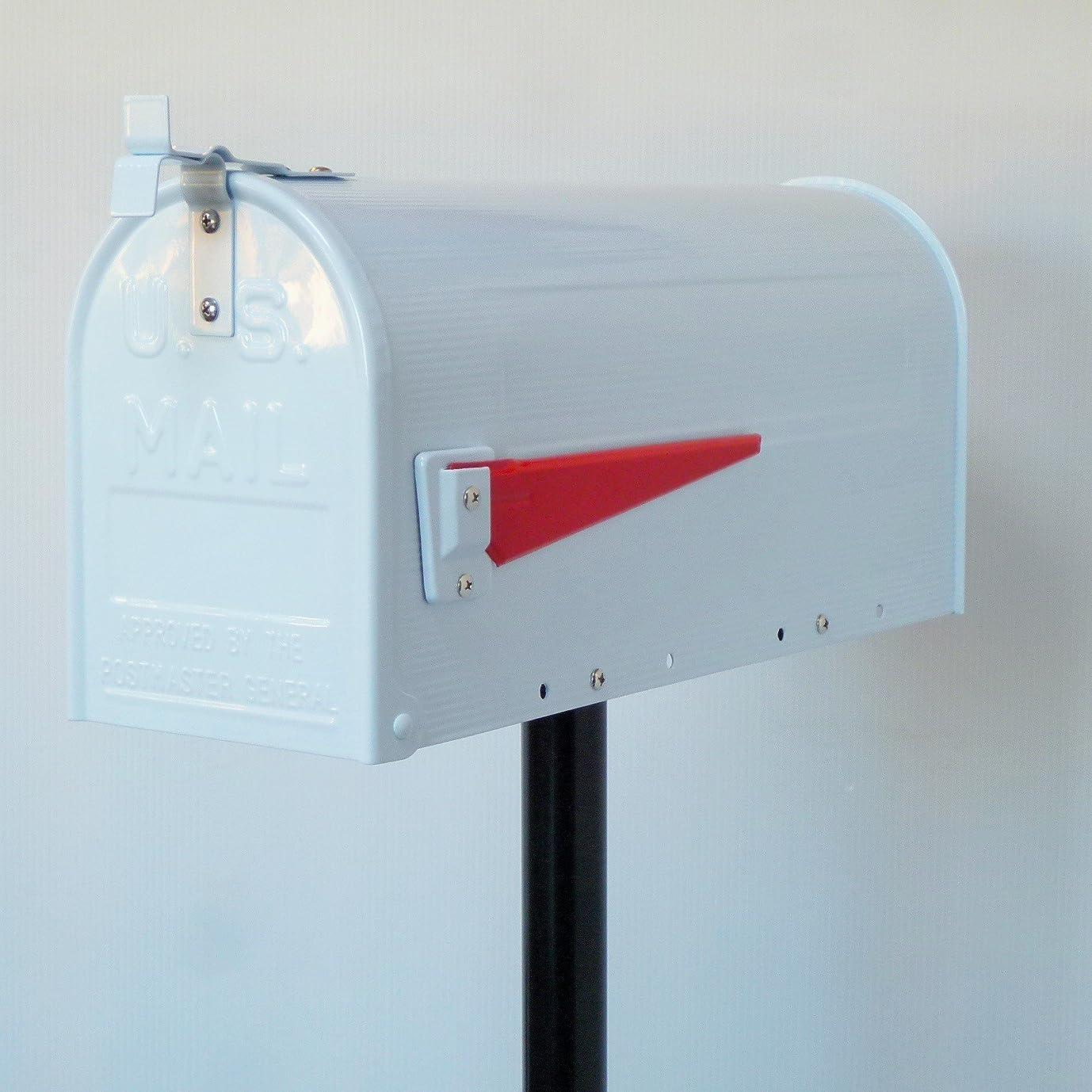 スローガン粒子リーズポスト 郵便ポスト 郵便受け USメールボックススタンドお洒落なホワイト白色ポストpm083