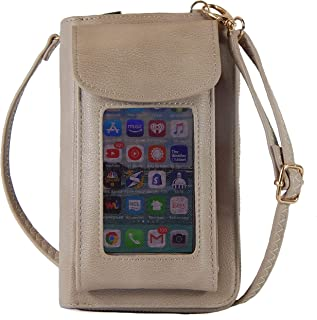 Crossbody Cell Phone Purse Wallet Organizer, Zip Pocket Phone Clutch for Women