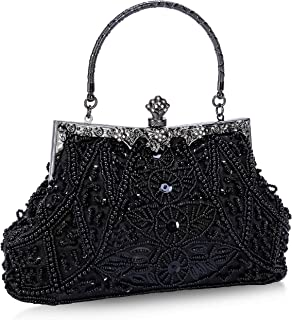 Evening Bag and Clutches for Women Beaded Sequin Wedding Purse Party Bridal Handbag
