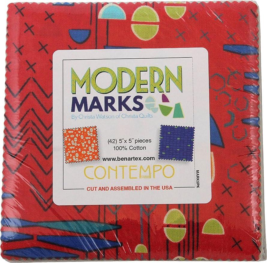 Christa Watson Modern Marks 5X5 Pack 42 5-inch Squares Charm Pack Benartex