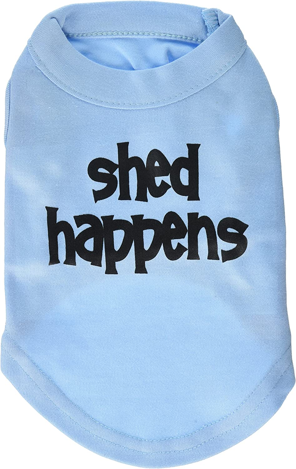 Mirage Pet Products 8Inch Shed Happens Screen Print Shirts for Pets, XSmall, Baby bluee