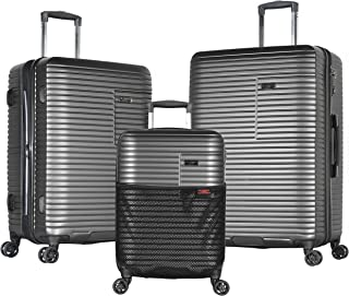 Olympia Taurus 3 Piece Luggage Set 21/25/29 Inch, Charcoal Gray, One Size