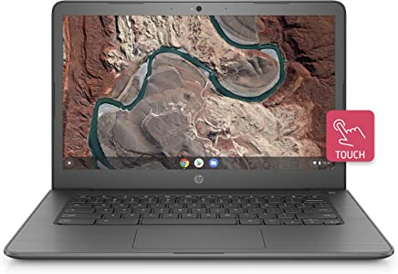 HP Chromebook 14-inch Laptop with 180-degree Hinge, Touchscreen Display, AMD Dual-Core A4-9120 Processor, 4 GB SDRAM, 32 GB eMMC Storage, Chrome OS (14-db0060nr, Chalkboard Gray)