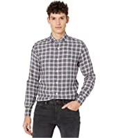 Washed Linen Plaid Sport Shirt