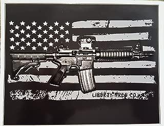 American Flag AR15 Vinyl Decal, Ar-15 Gun Bumper Sticker