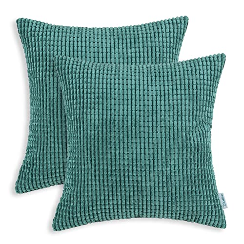 Amazing CaliTime Pack Of 2 Comfy Throw Pillow Covers Cases For Couch Sofa Bed  Comfortable Supersoft Corduroy