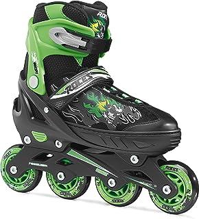 Roces Compy 6.0 男童直排滑冰鞋 黑色/浅绿色