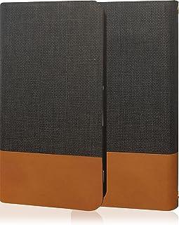 GRANBEAT DP-CMX1(B) 手帳型ケース 牛革 本革 高級レザー PU レザー 磁気カードの磁気不良防止機構 マグネットなし ツートン dpcmx1 ダークグレー ブラウン