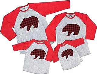7 ate 9 Apparel Matching Family Christmas Shirts - Plaid Bear Red Shirt