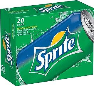 Sprite Lemon Lime Soda Soft Drinks, 12 fl oz, 20 Pack